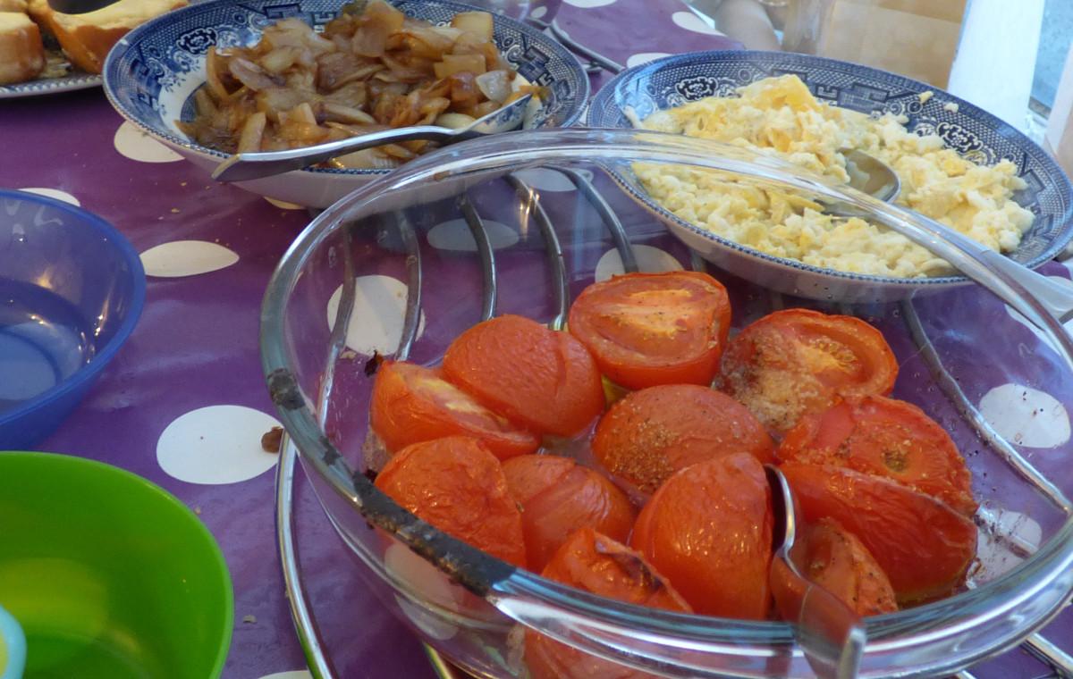 Baked Tomatoes- Bruschetta Topping