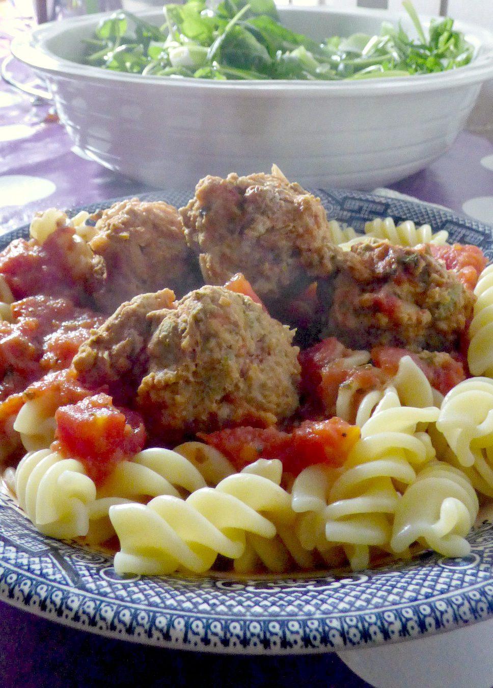 Easy Pork, Lemon and Sage Meatballs with Pasta