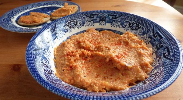 Chorizo and Roast Pepper Hummus