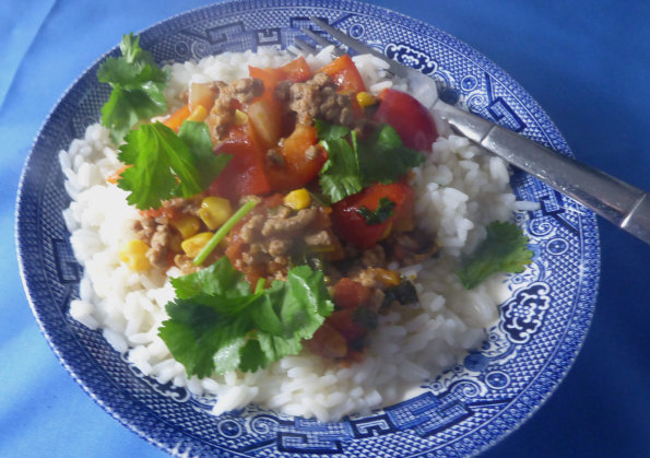 Mince with Lime and Coriander