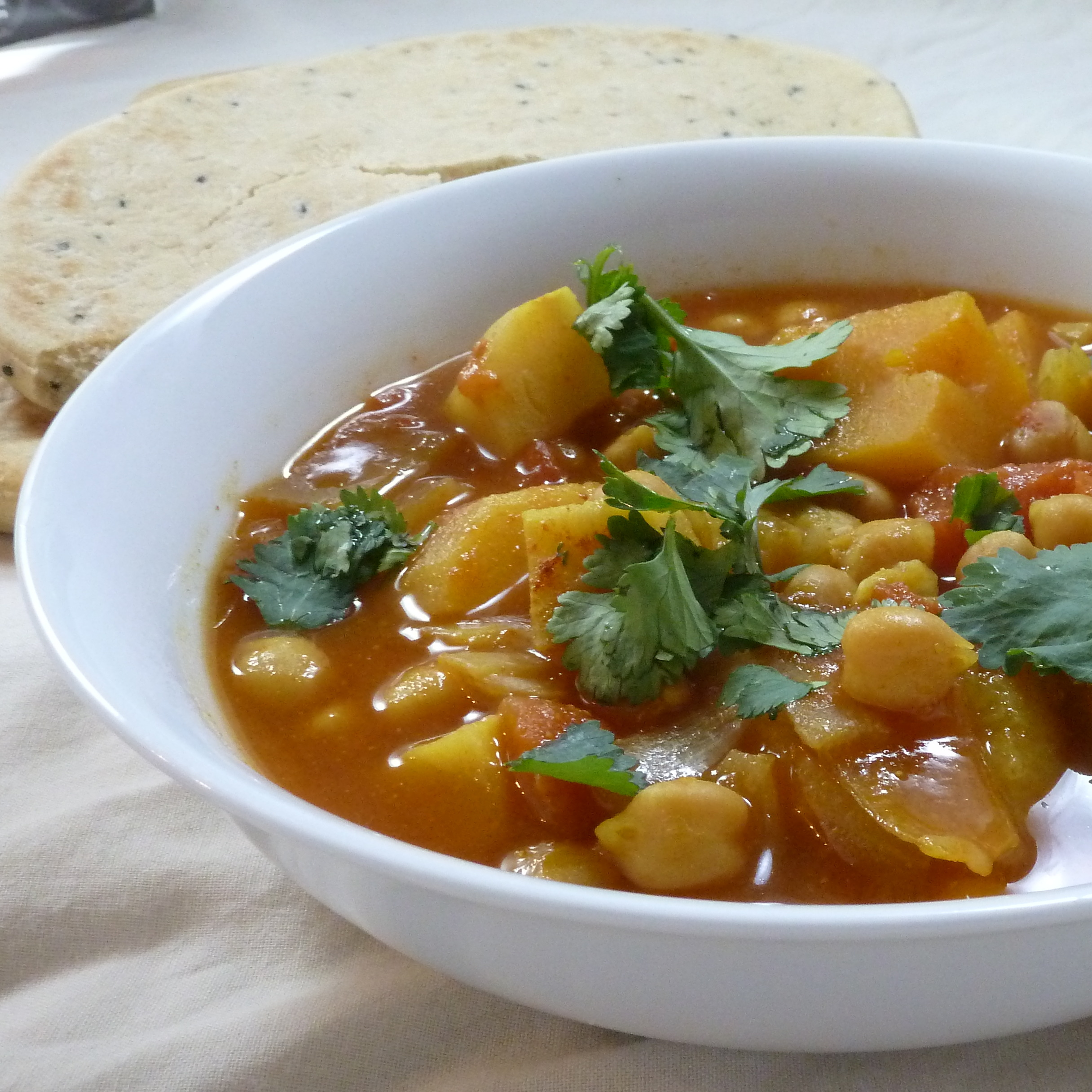 Slow Cooker Chickpea Curry with Parsnips