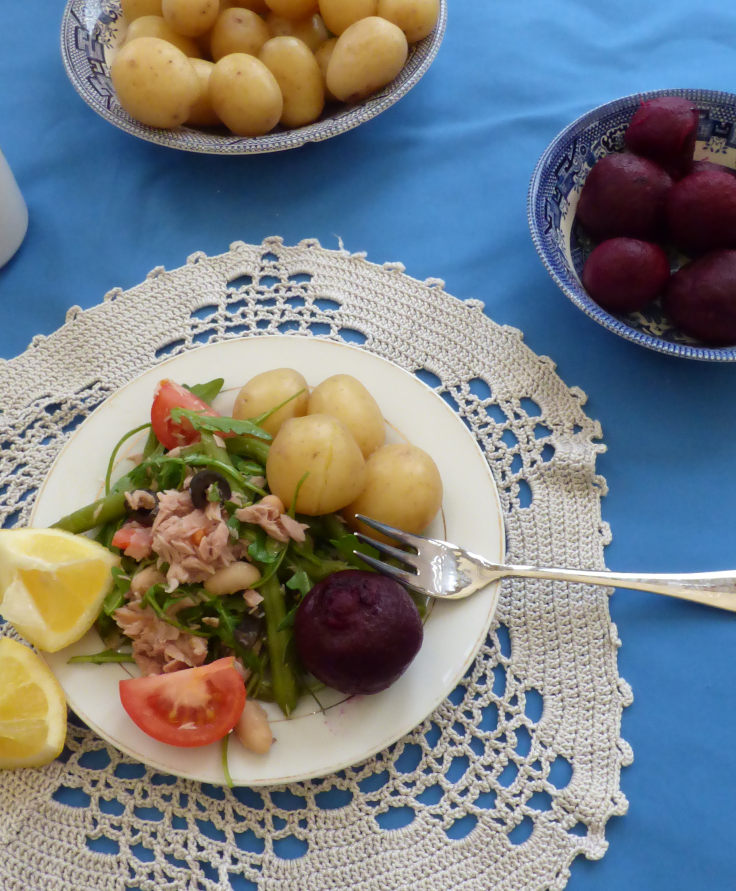 Hearty Tuna Beetroot Salad with Beans