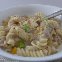 one pot tuna pasta with a creamy sauce from busylizzieooks.com