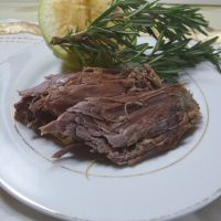 A slice of easy slow roast goose from grubdujour.com