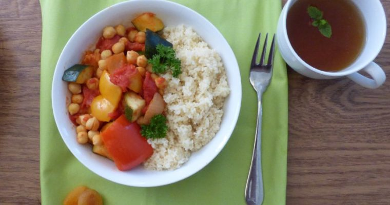 Speedy Moroccan Chickpea Stew with Apricots