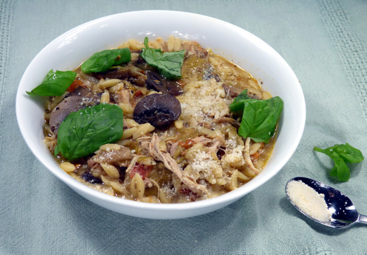 Slow Cooked Chicken Orzo with Yogurt