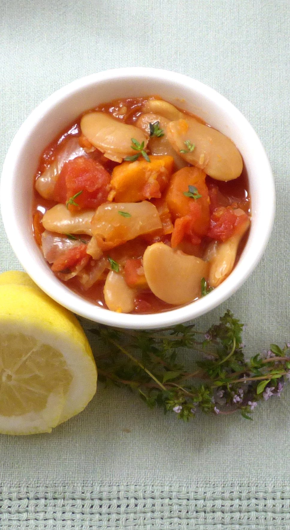 Slow Cooker Butter Beans with Lemon and Thyme