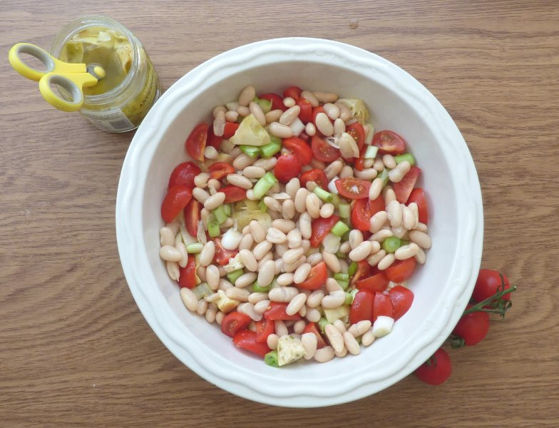 serving bowl of salad ingredients