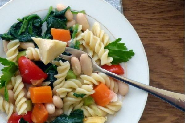 Tuscan Pasta Salad with Cannellini Beans