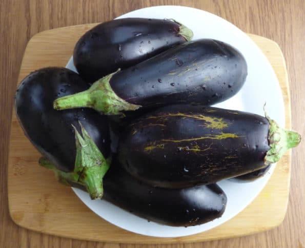 plate of aubergine (eggplant)